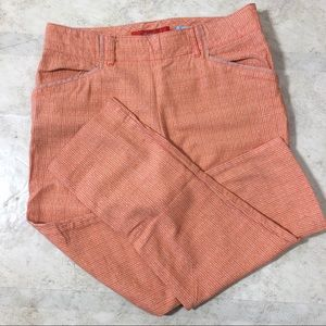 Anthropologie Cartonnier Orange Charlie Trousers